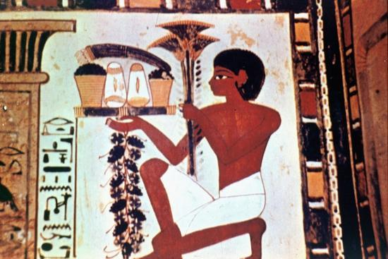 Wall Painting, Detail, Servant with Offerings, Chapel of Menna, Thebes Artist: Unknown-Unknown-Giclee Print