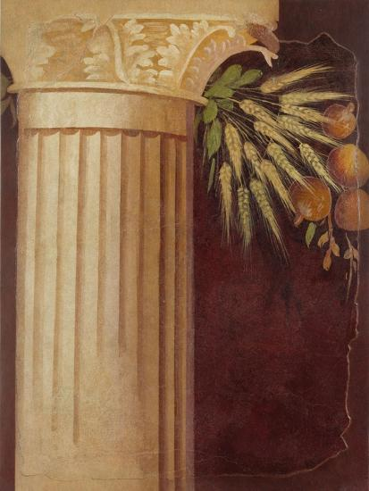 Wall painting fragment from the peristyle of a Villa at Boscoreale, c.50–40 B.C.-Roman Republican Period-Giclee Print