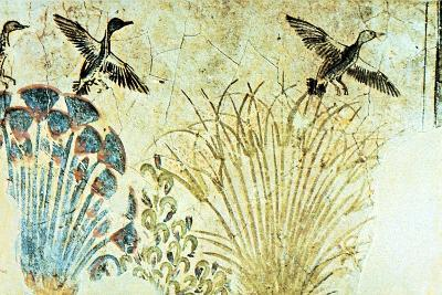 Wall Painting from the Tomb of Akhenaten, Ancient Egyptian, 18th Dynasty, C1375 Bc--Giclee Print