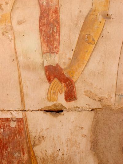 Wall Painting of Figures Holding Hands, Egypt-Michele Molinari-Photographic Print
