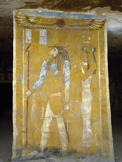 Wall Paintings from Tomb of Pa Nentwy, Bahariya Oasis, Giza, Egypt--Giclee Print