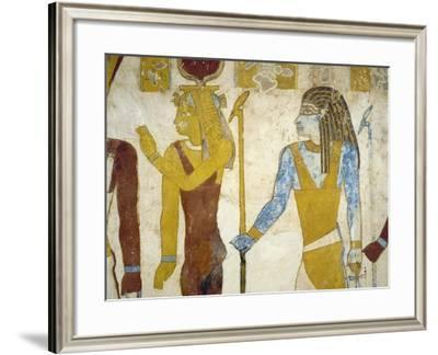 Wall Paintings from Tomb of Pa Nentwy, Bahariya Oasis, Giza, Egypt--Framed Giclee Print