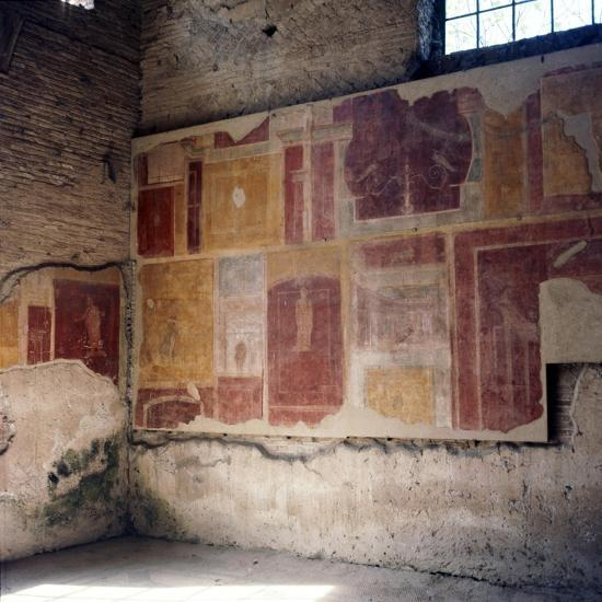 Wall paintings in house in Ostia, 2nd-3rd century-Unknown-Giclee Print