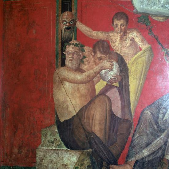 Wall-paintings in the Villa of the Mysteries, Pompeii, 1st century. Artist: Unknown-Unknown-Giclee Print