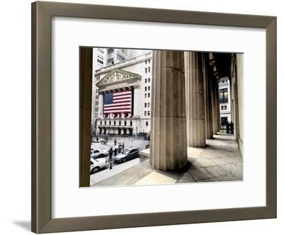 Wall Street and the New York Stock Exchange from Federal Hall