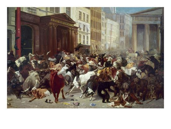 Wall Street: Bears & Bulls-William Holbrook Beard-Giclee Print