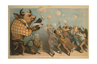 Wall Street Bubbles - Always the Same Cartoon--Giclee Print