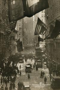 Wall Street Celebration as Germany Surrenders