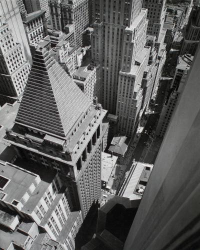 Wall Street, from the Roof of Irving Trust Co. Building, Manhattan-Berenice Abbott-Giclee Print
