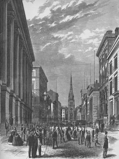'Wall Street, New York City', 1866, (1938)-Unknown-Giclee Print