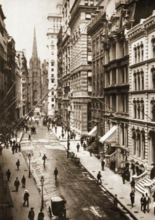 Wall Street, New York City, 1898