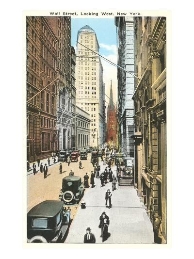 Wall Street, New York City--Art Print