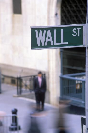 Wall Street Sign, Manhattan, New York, USA-Peter Bennett-Photographic Print