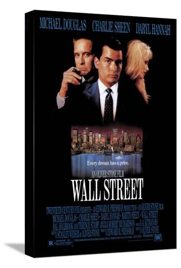 Wall Street--Stretched Canvas Print