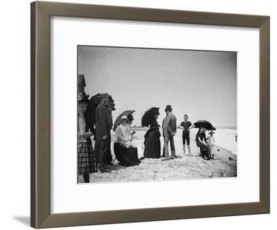 Children to Elderly, All Dressed Up by the Shoreline of Beach at Stokemus, Near Sea Bright
