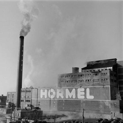1946: Exterior of the Hormel Foods Corporation Meat Factory, Austin, Minnesota by Wallace Kirkland