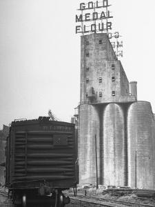 Exterior View of the Gold Medal Flour Mill by Wallace Kirkland