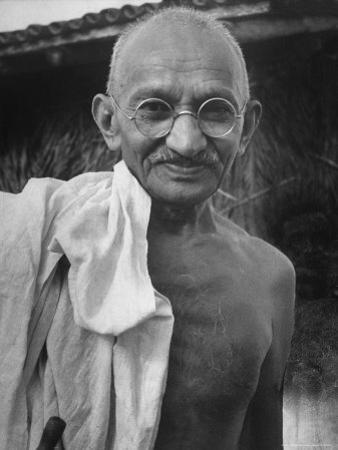 Leader of India, Mohandas Gandhi by Wallace Kirkland