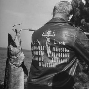 Muskie Fishing by Wallace Kirkland
