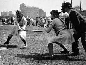 Rookie Outfielder from Racine Preparing to Sock One on the Nose by Wallace Kirkland