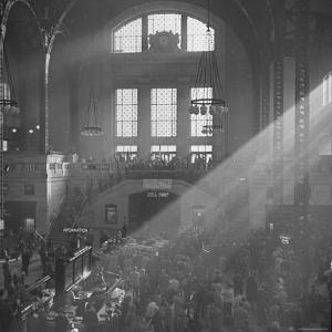 Salvation Army Meeting Held at Union Station by Wallace Kirkland