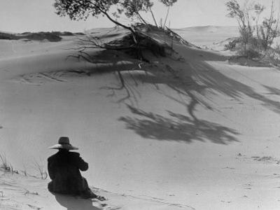 Sand Dunes Bordering Lake Michigan by Wallace Kirkland