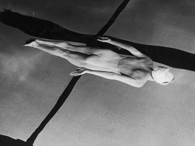 Swimmer Jeanne Wilson Underwater by Wallace Kirkland