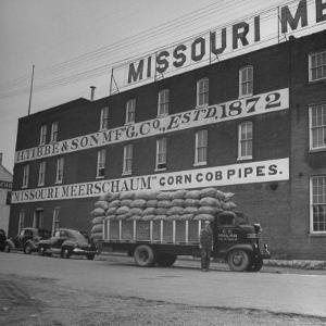 View of a Corn Cob Pipe Factory by Wallace Kirkland