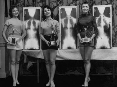 Winning Models Marianne Baba, Lois Conway and Ruth Swensen During a Chiropractor Beauty Contest by Wallace Kirkland