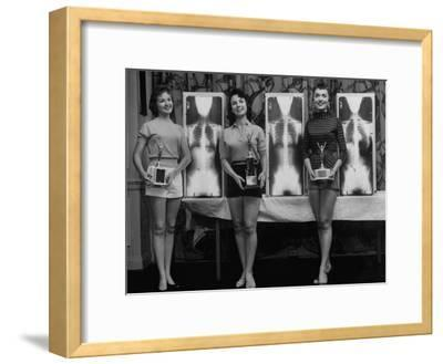 Winning Models Marianne Baba, Lois Conway and Ruth Swensen During a Chiropractor Beauty Contest
