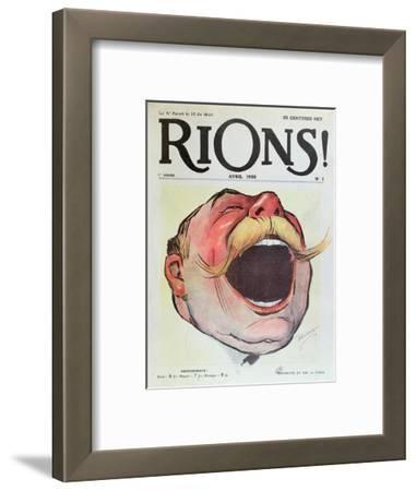 "Let's Laugh', Cover of ""Rions"" Magazine, 1908 (Colour Litho)"