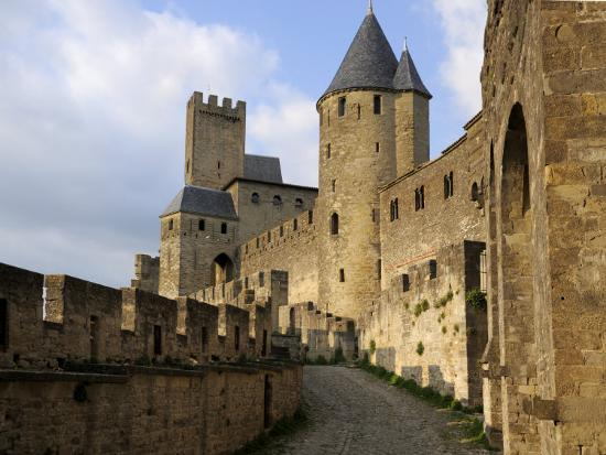 Walled and Turreted Fortress of La Cite, Carcassonne, Languedoc-Peter Richardson-Photographic Print