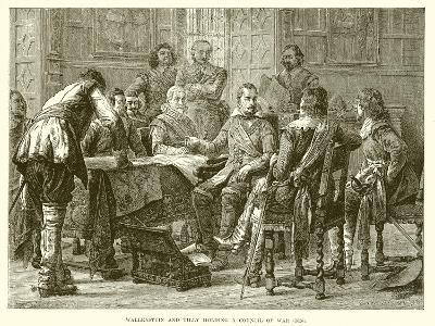 Wallenstein and Tilly Holding a Council of War (1626)--Giclee Print