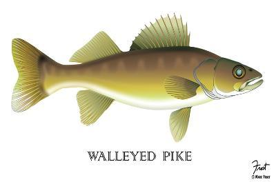 Walleyed Pike-Mark Frost-Giclee Print