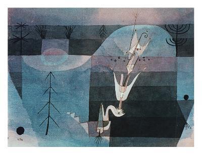 Wallflower (detail)-Paul Klee-Art Print