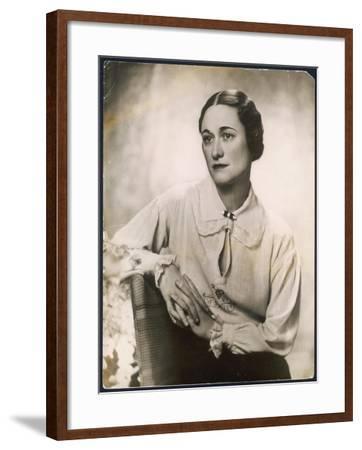 Wallis Simpson--Framed Photographic Print