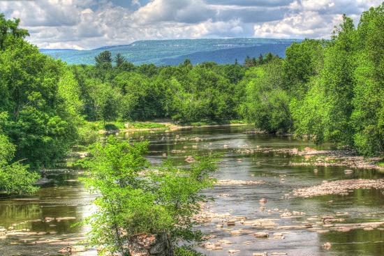 Wallkill Bridge Mountain View-Robert Goldwitz-Photographic Print