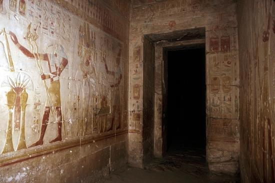 Wallpaintings, Temple of Sethos I, Abydos, Egypt, 19th Dynasty, c1280 BC. Artist: Unknown-Unknown-Giclee Print