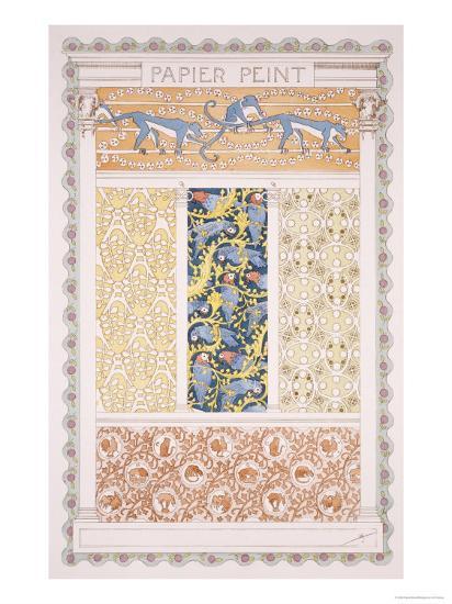 Wallpapers and Friezes, Esquisses Decoratives Binet, c.1895-Rene Binet-Giclee Print