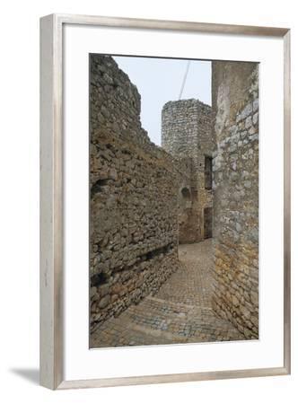Walls Along an Alley, Bassiano, Latina Province, Lazio, Italy--Framed Photographic Print