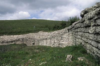 Walls, Archaeological Ruins of Monte Adranone, Sicily, Italy--Giclee Print