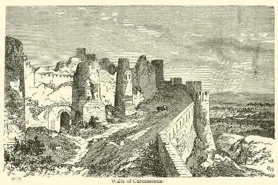 Walls of Carcassonne--Giclee Print