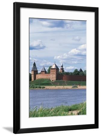 Walls of Kremlin on Volkhov River, Novgorod (Unesco World Heritage List, 1992), Russia--Framed Photographic Print