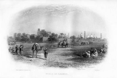 Walls of Lahore, 19th Century-EL Roberts-Giclee Print
