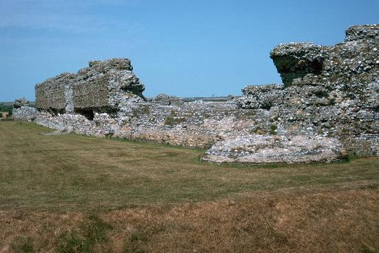 Walls of the Roman port of Richborough, 1st century. Artist: Unknown-Unknown-Photographic Print