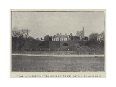 Walmer Castle, Kent, the Official Residence of the Lord Warden of the Cinque Ports--Giclee Print