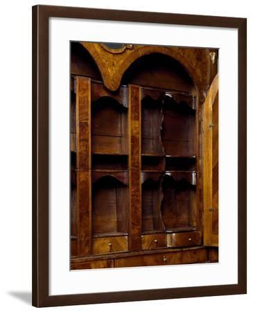 Walnut and Walnut Root Trumeau Cabinet, 1700, Made in Venice, Italy, Detail--Framed Giclee Print