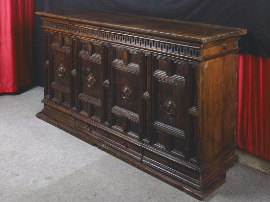 Walnut Sideboard, Italy, 16th Century--Giclee Print