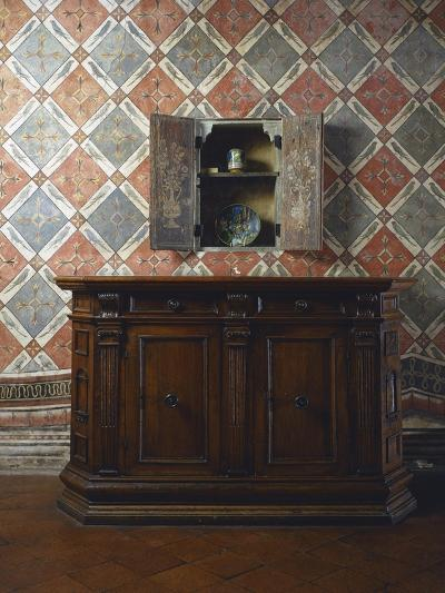 Walnut Sideboard, Italy, Second Half 16th Century--Giclee Print