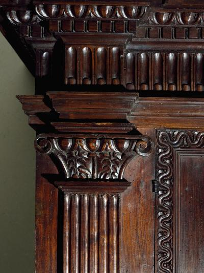 Walnut Wardrobe with Farnese Family Coat of Arms, Italy, Second Half 16th Century, Detail--Giclee Print